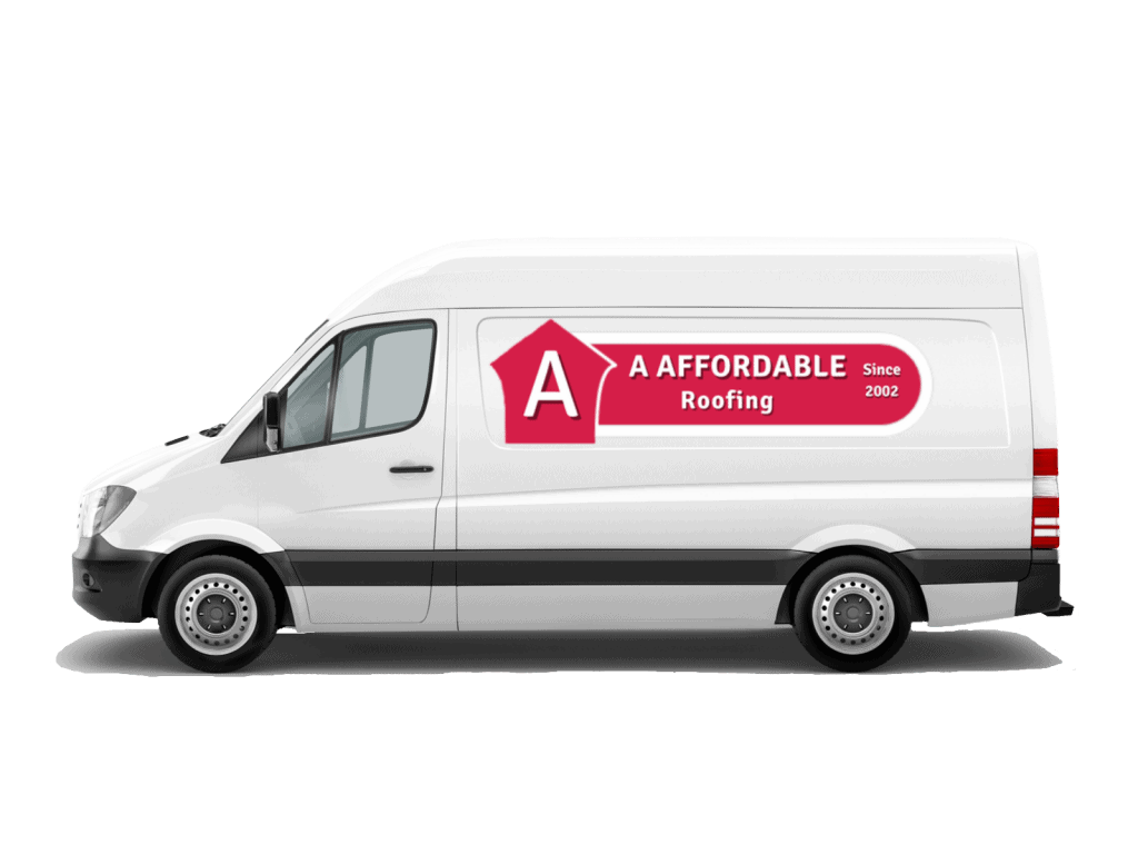 A Affordable Roofing Services Logo on van